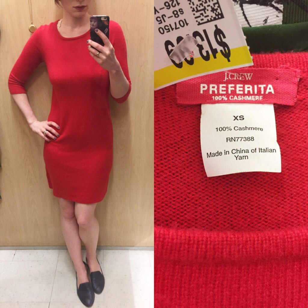 J. Crew sweater dress