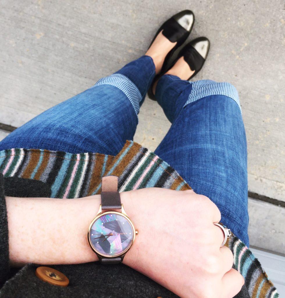 patched watch (Skagen)