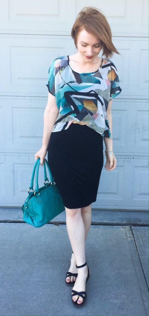 Dress, Numph (secondhand); shoes, J. Crew Factory; bag, Marc Jacobs (via eBay)