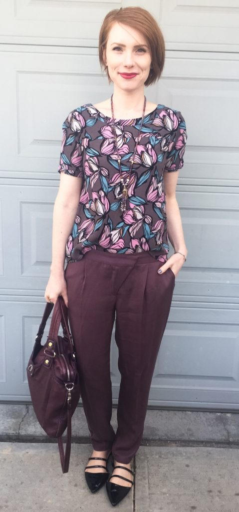 Top, LOFT (thrifted); pants, Cartonnier (thrifted); shoes, Zara; bag, MbMJ