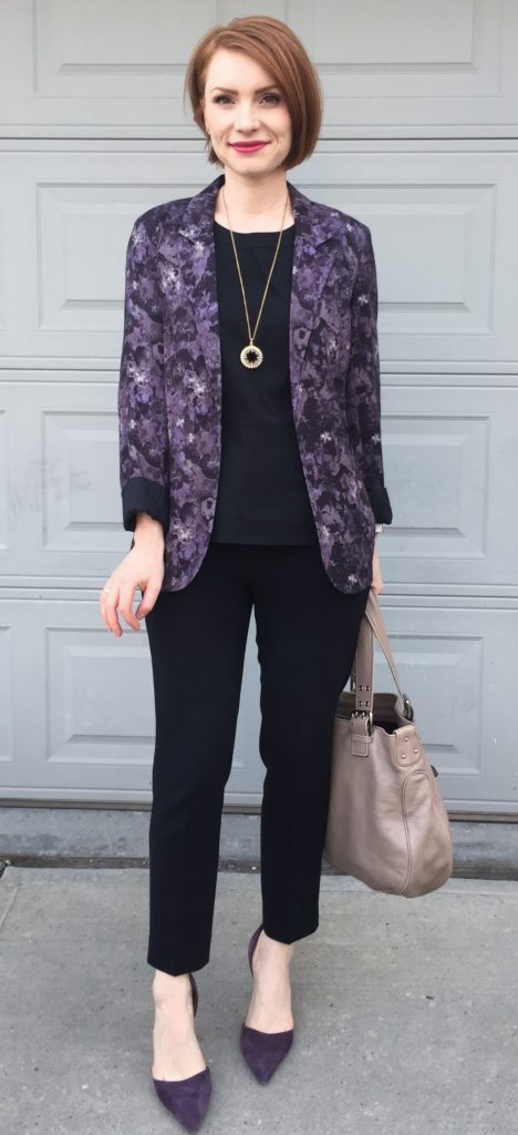 black & purple (with a side of florals)