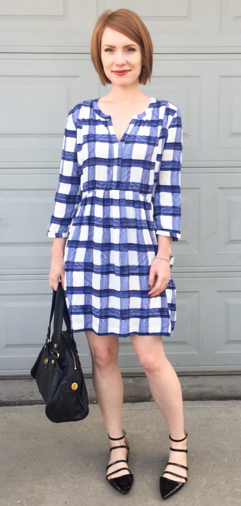 Dress, Maeve (thrifted); shoes, Zara; bag, MbMJ (via eBay)