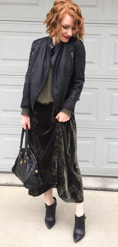 velvet, knit & (faux) leather